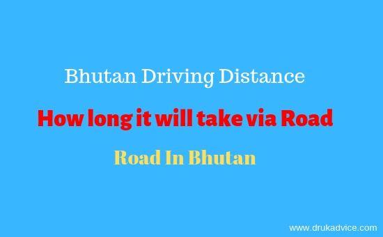 Bhutan Driving Distance