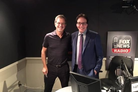 Alan Colmes and Garry Trudeau together on Fox News Radio